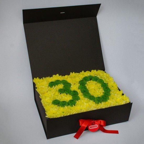 """Цветна кутия """"Торта от цветя"""""""