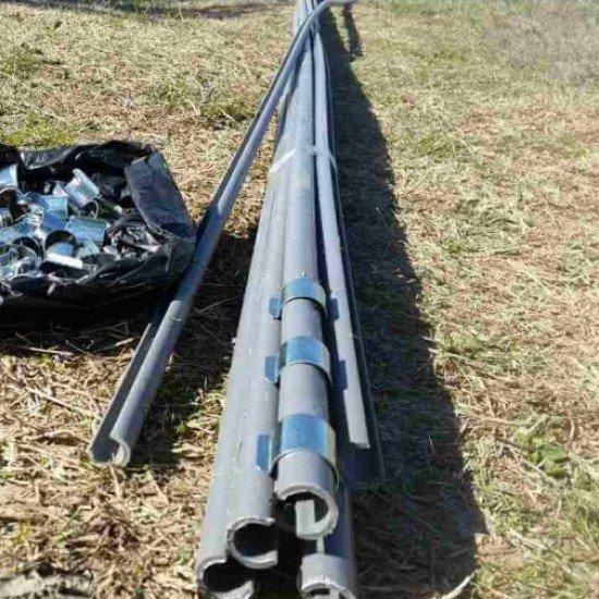 Полутръба(щипка) за оранжерии - 4 метра