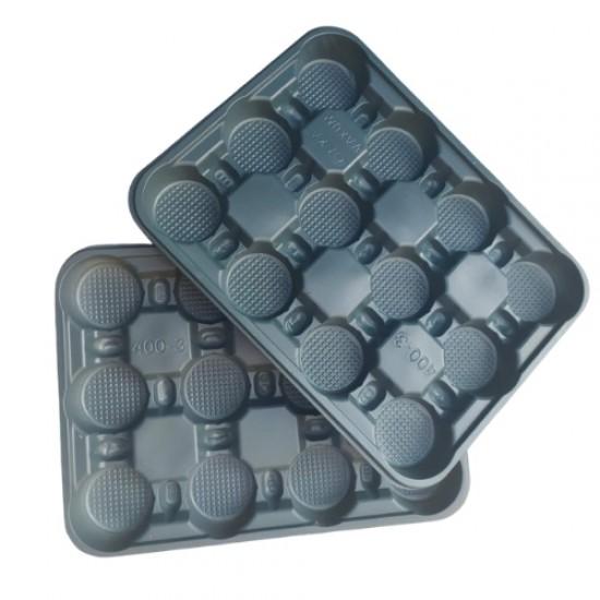 Подложна форма за разсад - 12 гнезда - плитки