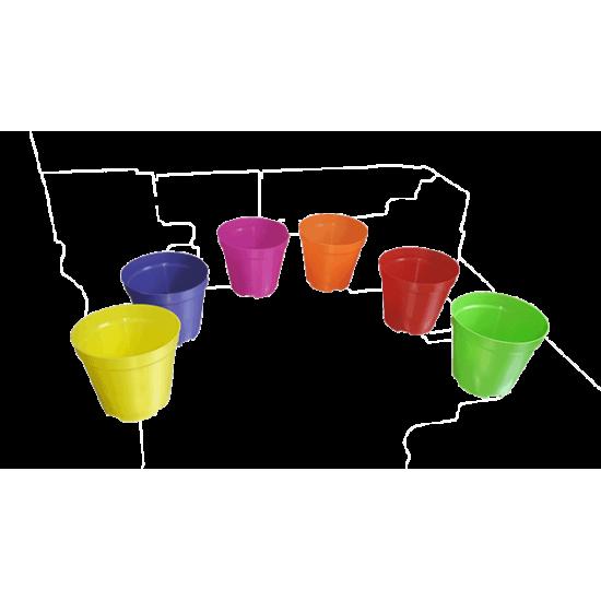 Саксия цветна твърда ф130